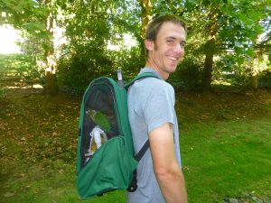 How to build a backpack carrier for a parrot