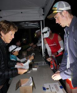 Zach Szablewski picking up bib number at 2017 Western States 100 Ultramarathon